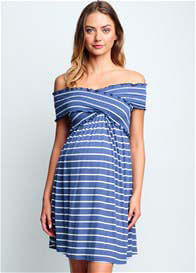 Maternal America - Criss Cross Off Shoulder Dress