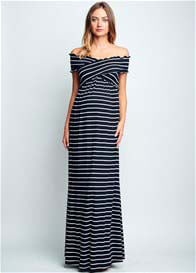Maternal America - Criss Cross Off Shoulder Maxi
