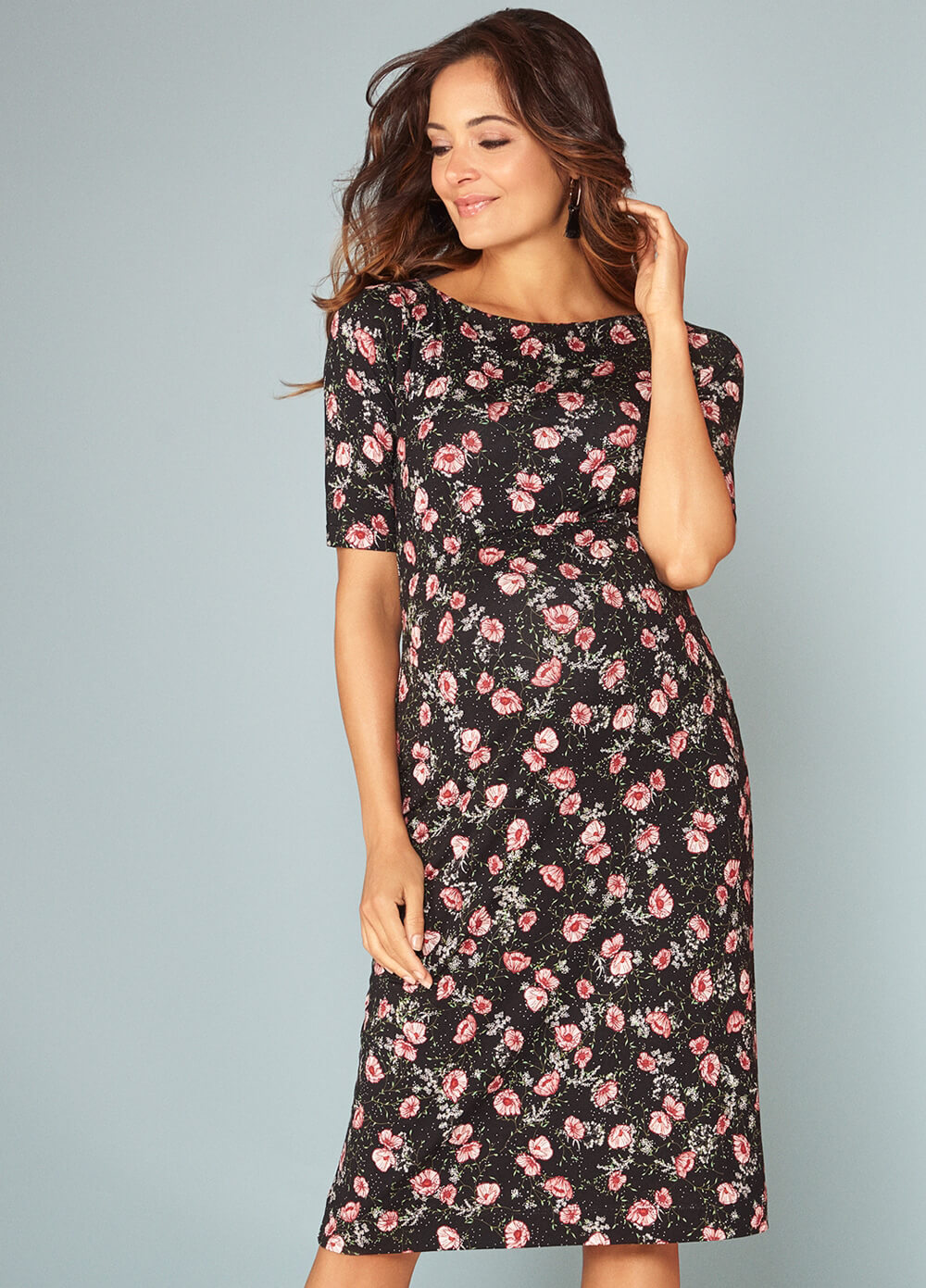 Tiffany Rose - Anna Shift Dress in Ruby Bloom
