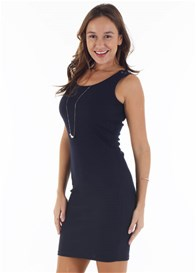 Trimester™ - Courtney Nursing Tank Dress in Navy - ON SALE