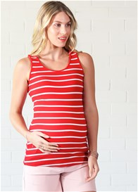 Trimester™ - Laurina Red Striped Nursing Tank Top