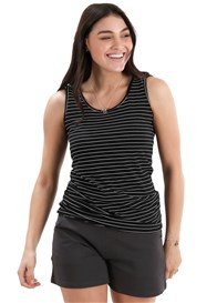 Trimester™ - Maisie Signature Nursing Top in Black Stripe