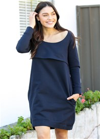 Trimester® - Winter Mama Journey Fleece Dress in Navy