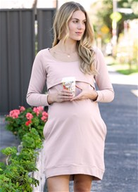 Trimester® - Winter Mama Journey Fleece Dress in Pink