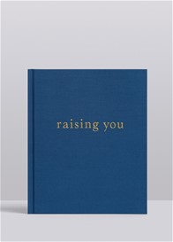 Write to Me - Raising You, Letters to My Baby Journal in Navy